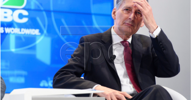 Chancellor Philip Hammond in Davos, Switzerland