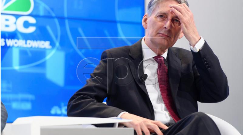 Chancellor Philip Hammond in Davos, Switzerland