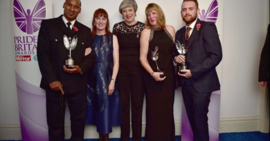 Charlie Guenigault (right) at the Pride of Britain awards in November 2017